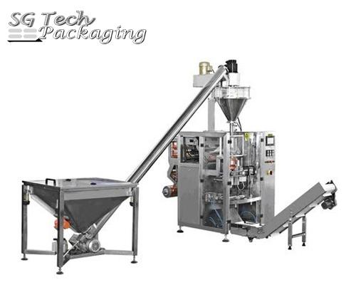 Автоматический вертикальный упаковочный станок для порошковой упаковки